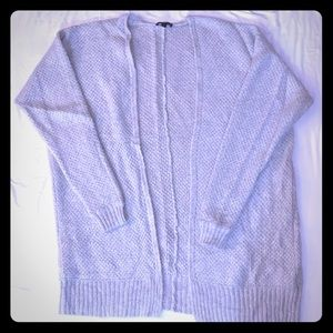 Express light gray oversized cardigan